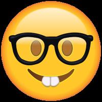 Emoticon cara de nerd: refleja la sensación de alguien que empieza a buscar vivienda nueva