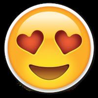 Emoticón con los ojos en forma de corazón: cuando te gusta mucho un proyecto de vivienda nueva