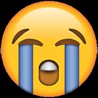 Emoticón cara llorando: llorar de la alegría por tener vivienda nueva