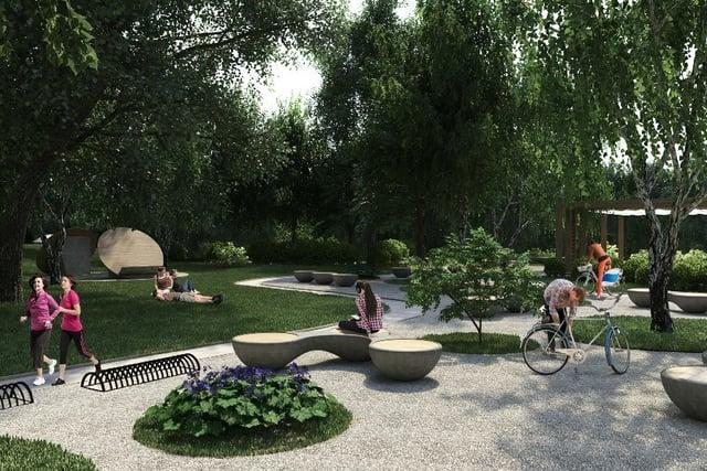 Proyecto de vivienda nueva: zonas verdes de Ceiba Sagrada - Verde Vivo en Medellín