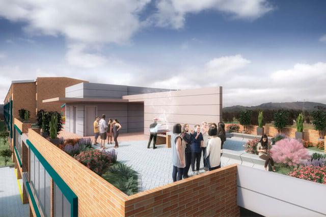Proyecto de vivienda nueva: terraza de Venti Apartamentos en Bogotá