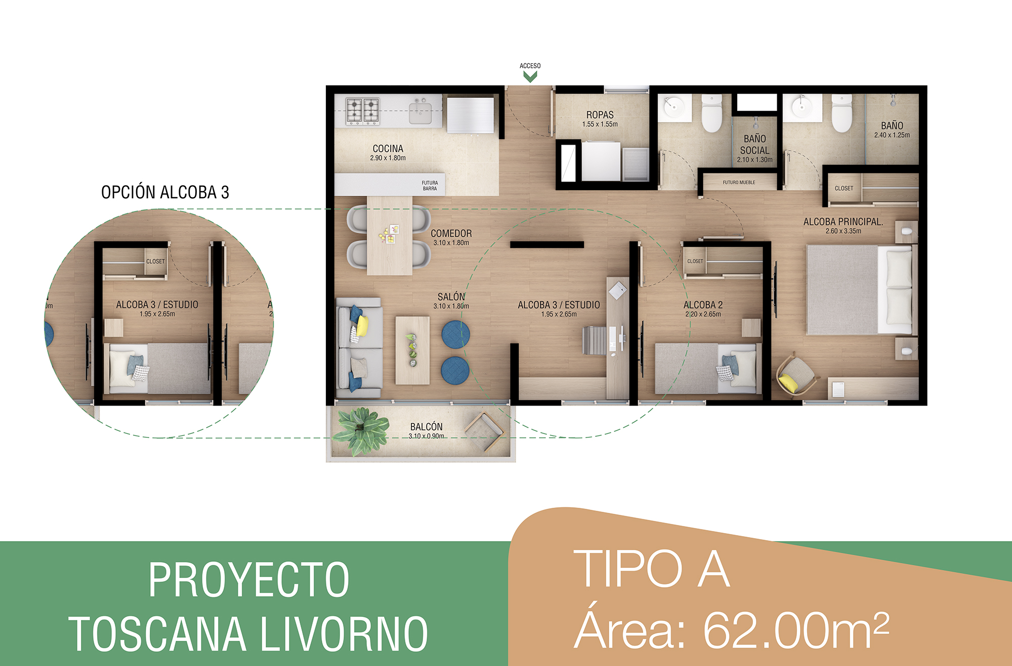 toscana-livorno-apartamentos-sabaneta-tipoa